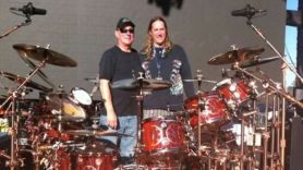 Neil Peart with Danny Carey