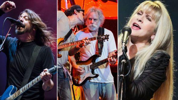 Foo Fighters (David Brendan Hall), Dead & Company (Ben Kaye), Stevie Nicks (Getty) to play New Orleans Jazz Fest