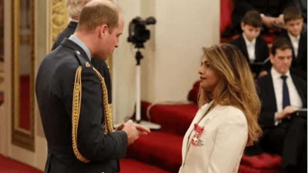 Prince William and M.I.A. award M.B.E. British Queen