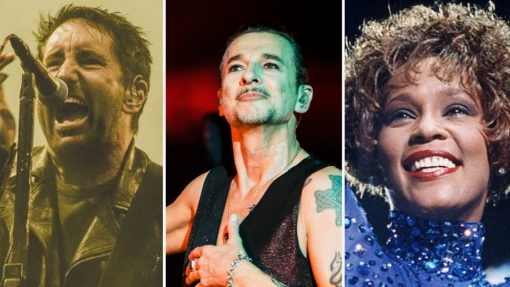 Nine Inch Nails (Lior Phillips), Depeche Mode (Philip Cosores), Whitney Houston (Getty)