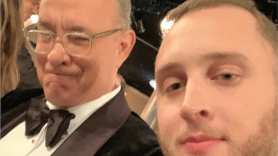 Tom Hanks and Chet Hanks son Golden Globes crash accent
