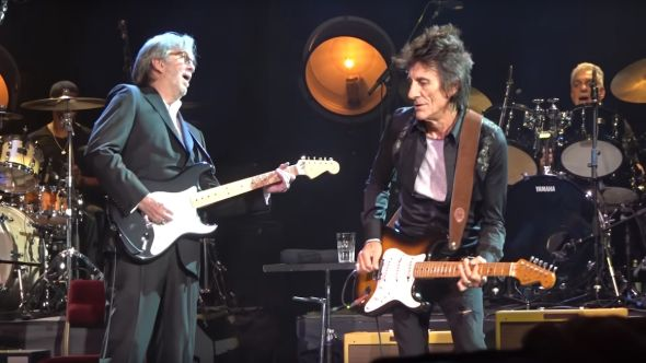 Eric Clapton and Friends - A Tribute to Ginger Baker tribute concert Ronnie Wood Cream drummer live Roger Waters, screenshot via Youtube/Banfibill