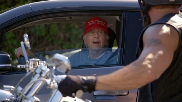 Larry David dons the MAGA hat
