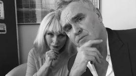 Morrissey with Blondie's Debbie Harry, photo via Twitter