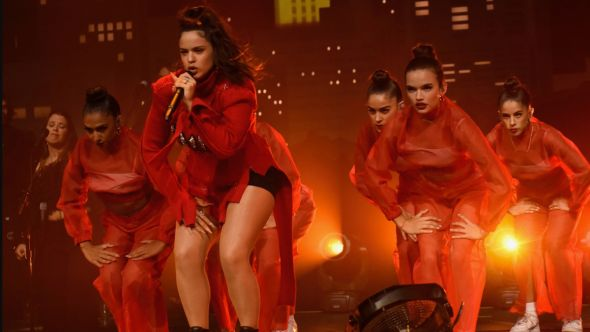 Rosalia performs on ACL TV