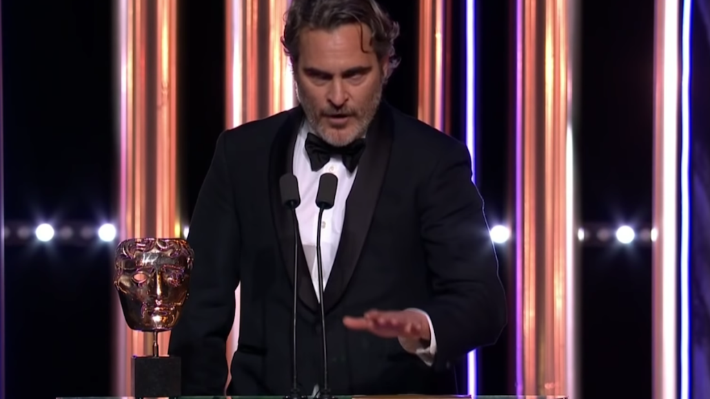 joaquin phoenix bafta awards speech video