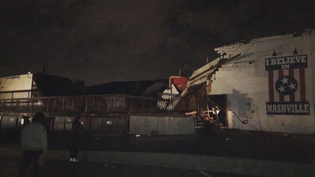 Basement East destroyed in tornado, photo via Instagram