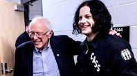 Bernie Sanders with Jack White, photo by Bryan Giradinelli