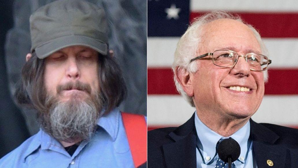 Jeff Mangum and Bernie Sanders, photo via Getty