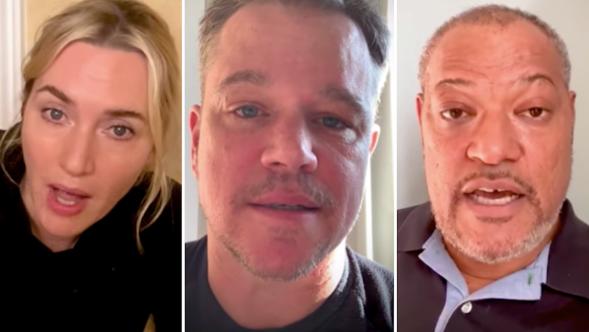 Contagion Cast PSAs Covid-19 Matt Damon Kate Winslet Laurence Fishburne Marion Cotillard Jennifer Ehle