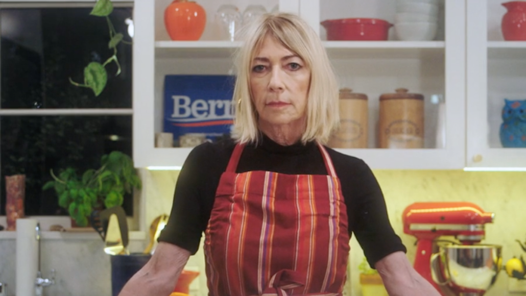 Kim Gordon Bernie Sanders PSA Cake Super Tuesday
