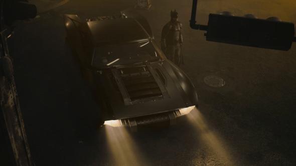 Matt Reeves The Batman Batsuit Batmobile costume car