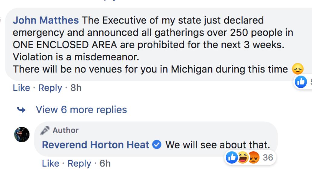 Reverend Horton Heat tweet 4