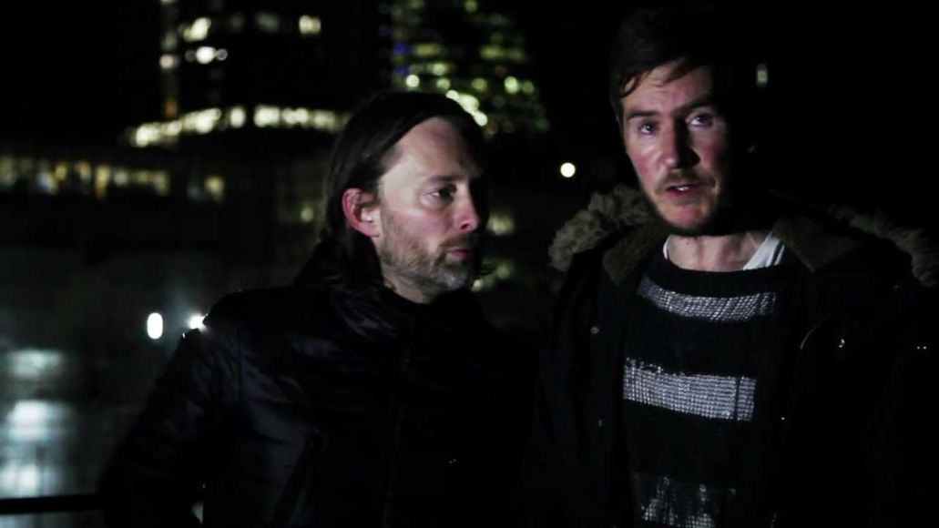 Thom Yorke with Massive Attack's Robert '3D' Del Naja