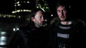 Thom Yorke with Massive Attack's Robert '3D' Del Naja