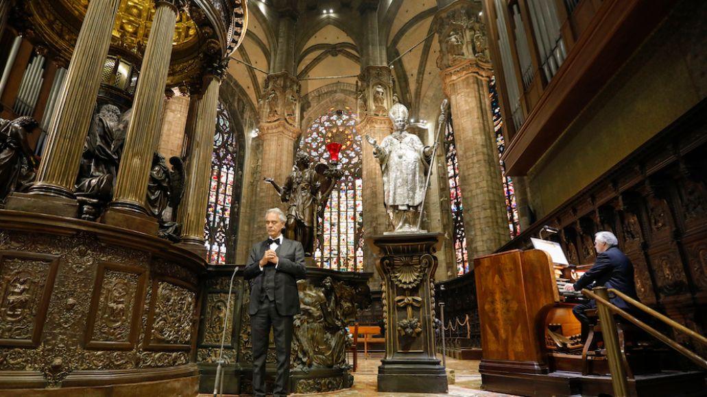 Bocelli Duomo 8 credit LUCA ROSSETTI COURTESY SUGAR SRL DECCA RECORDS Andrea Bocelli Releases Full Easter Sunday Concert Video: Watch