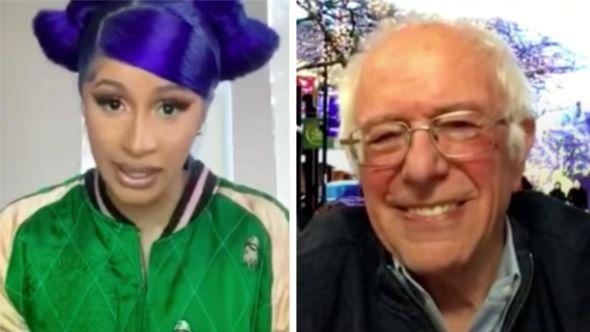 Cardi B Bernie Sanders interview livestream video politics coronavirus