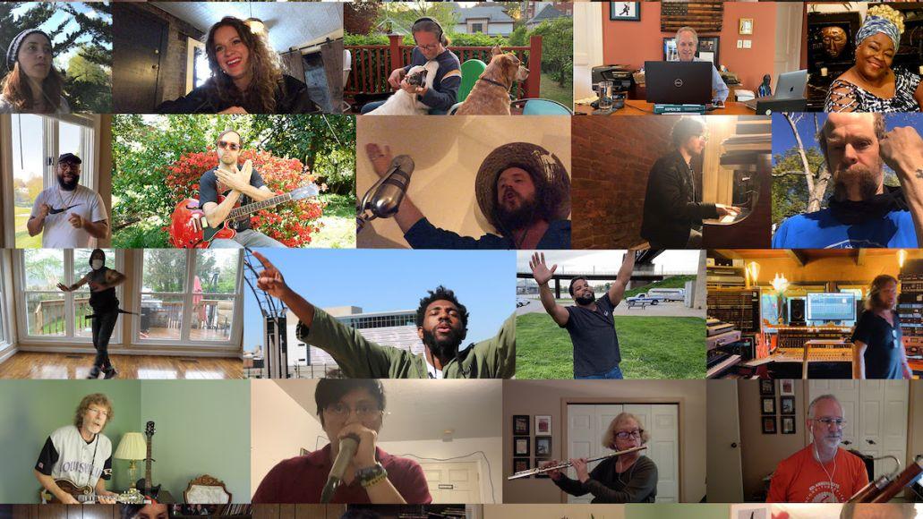 Lift Up Louisivlle COVID-19 Charity Single Coronavirus Kentucky Will Oldham Jim James Wax Fang