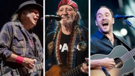 Neil Young (Debi Del Grande), Willie Nelson livestream (ACL), and Dave Matthews At Home with Farm Aid concert digital online