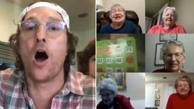 Matthew McConaughey virtual bingo zoom seniors