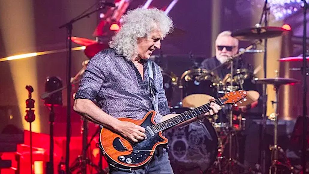 Queen Brian May heart attack