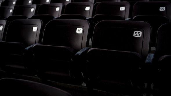 Empty concert venue