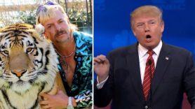 Joe Exotic (Netflix) and Donald Trump on CNBC Joe Exotic Trump pardoned jail