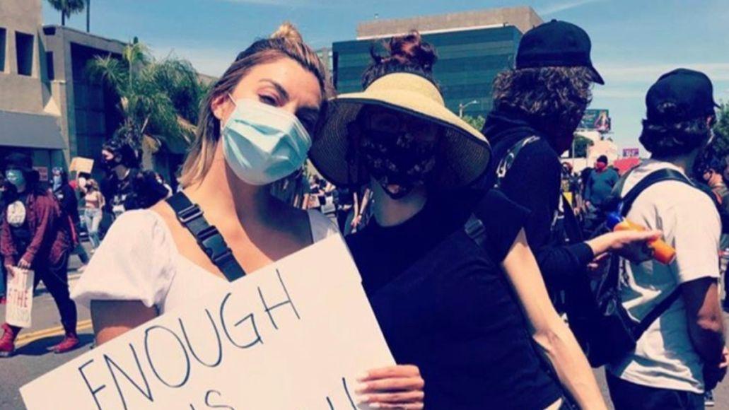 Lana Del Rey protesting, photo via Instagram