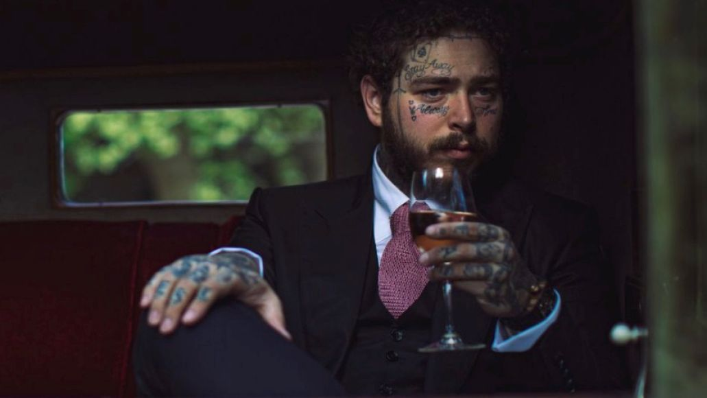 Post Malone, wine drinker