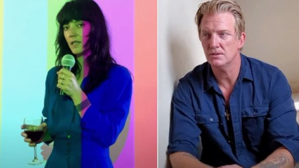 """Sharon Van Etten and Josh Homme in video for """"(What's So Funny 'Bout) Peace, Love and Understanding"""""""