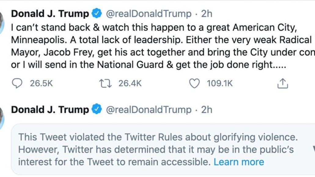 Trump violence tweet