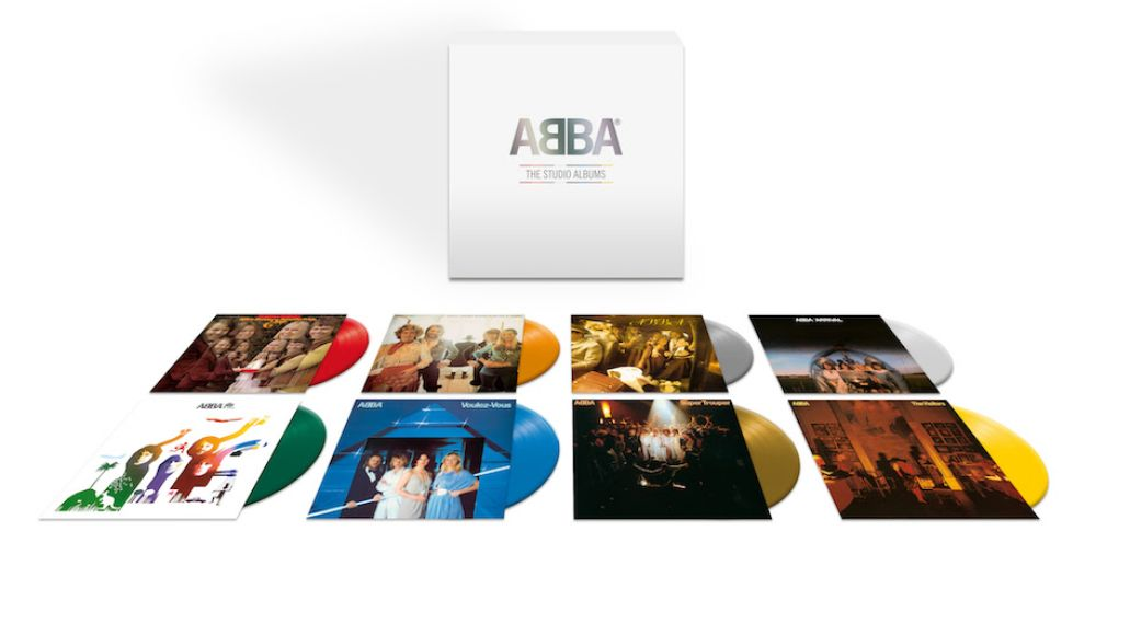 abba the studio albums box set colored vinyl reissue preorder ABBAs Entire Catalog to Be Reissued on Colored Vinyl for the First Time
