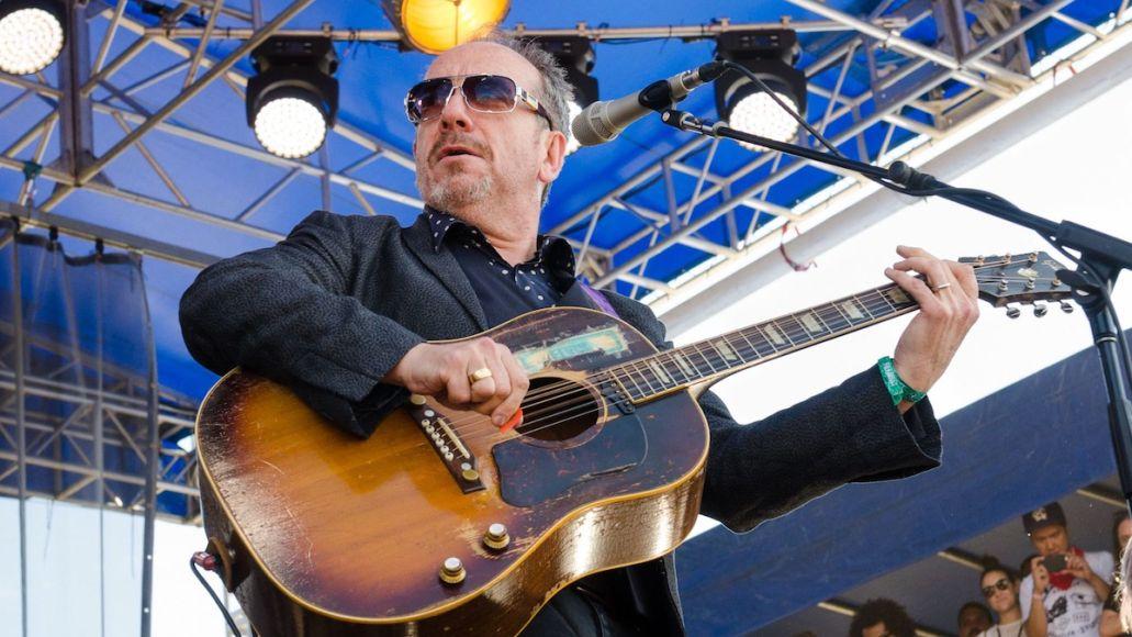 Elvis Costello No Flag new song lyrics new music lyric video, photo by Ben Kaye