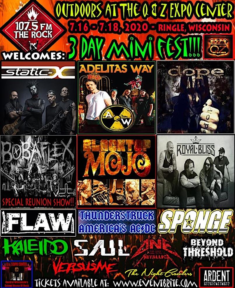 Wisconsin Rock Fest - updated poster