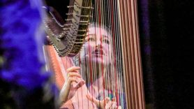 Joanna Newsom baby harp Andy Samberg kid, photo by Nina Corcoran