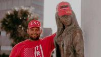 Joe Michael Perez at Selena's memorial monument (Facebook)
