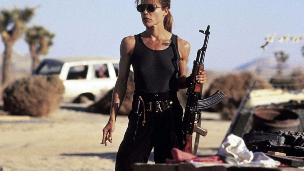 Linda Hamilton as Sarah Connor in Ter