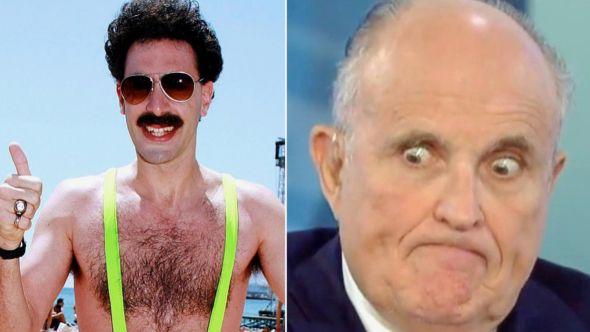 Sacha Baron Cohen and Rudy Giuliani