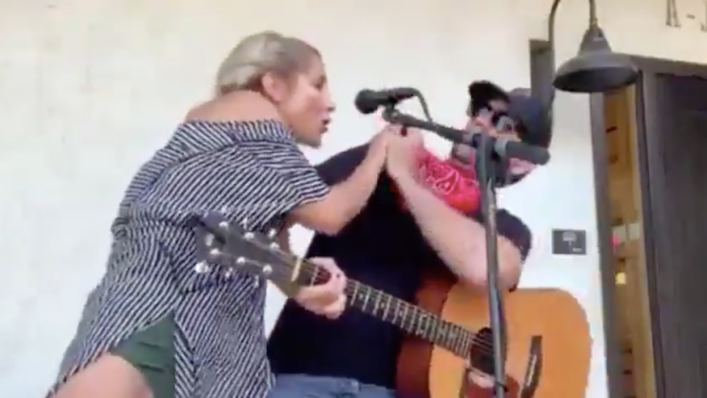 Woman Coughs on Clayton Gardner During Concert Covid-19 Coronavirus Performance Twitter Video