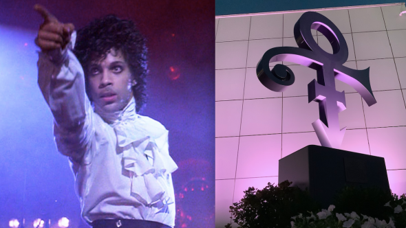prince love symbol paisley park statue