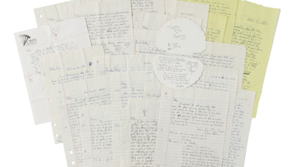 10395 Tupac Shakur High School Love Letters to Kathy Loy Sothebys to Auction Off The Notorious B.I.G.s King of New York Crown