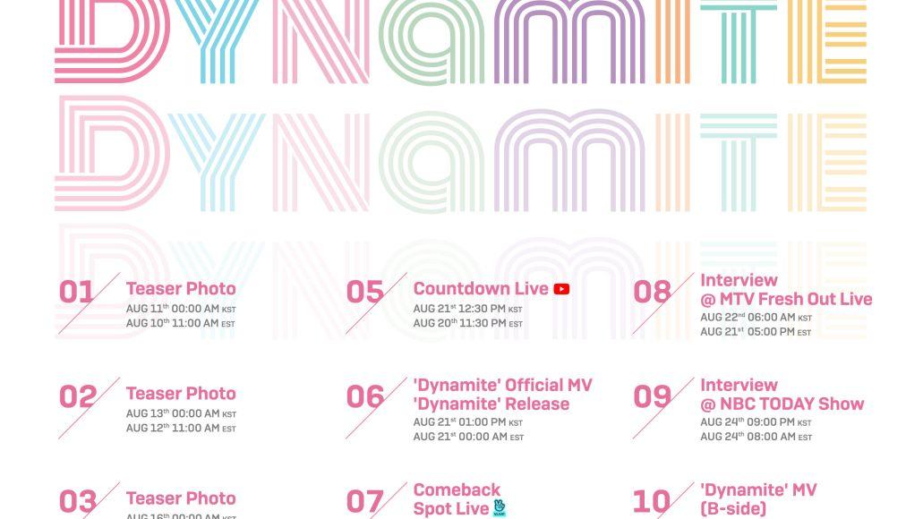 BTS promotion schedule dynamite