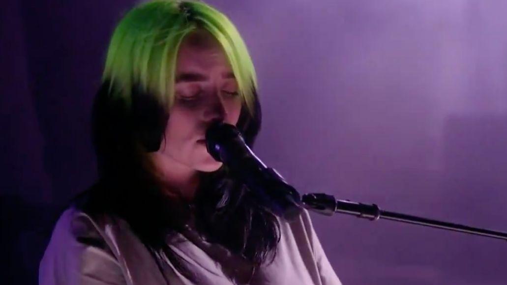 "Billie Eilish performs ""my future"" at DNC"