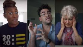 Issa Rae Dan Levy Bette Midler Coastal Elites First Trailer Teaser Watch Stream