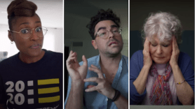 Issa Rae Dan Levy Bette Midler Coastal Elites First Trailer Teaser Watch Stream