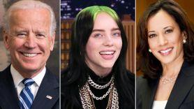 Joe Biden, Billie Eilish, and Kamala Harris