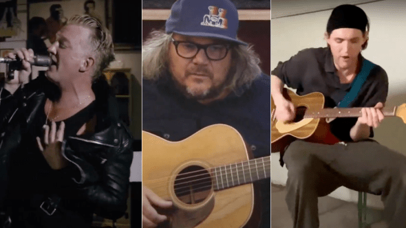 Josh Homme, Jeff Tweedy, and Josh Klinghoffer play Strummer tribute