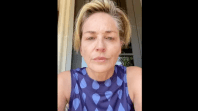 Sharon Stone Coronavirus Mask COVID-19 Sister Vote