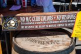 Signage at Loud American bar during the 80th annual Sturgis Motorcycle Rally on Friday, Aug. 14, 2020, in Sturgis, S.D. (Amy Harris)