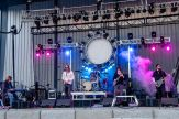 Trilogy, a Led Zeppelin cover band performs at the Full Throttle Saloon during the 80th annual Sturgis Motorcycle Rally on Friday, Aug. 14, 2020, in Sturgis, S.D. (Amy Harris)